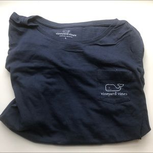 Navy blue Vineyard Vines T Shirt Women's Large